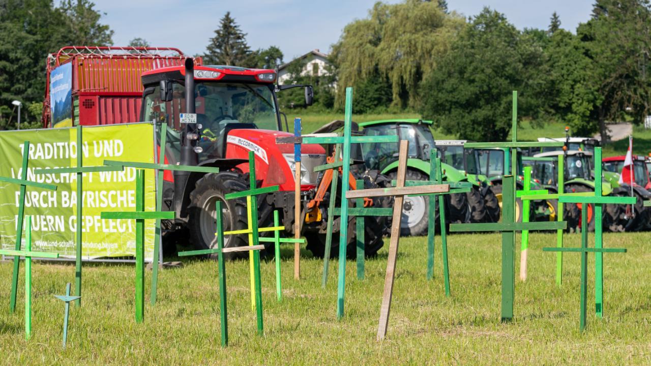 Bilder der Traktor-Demo am Chiemsee