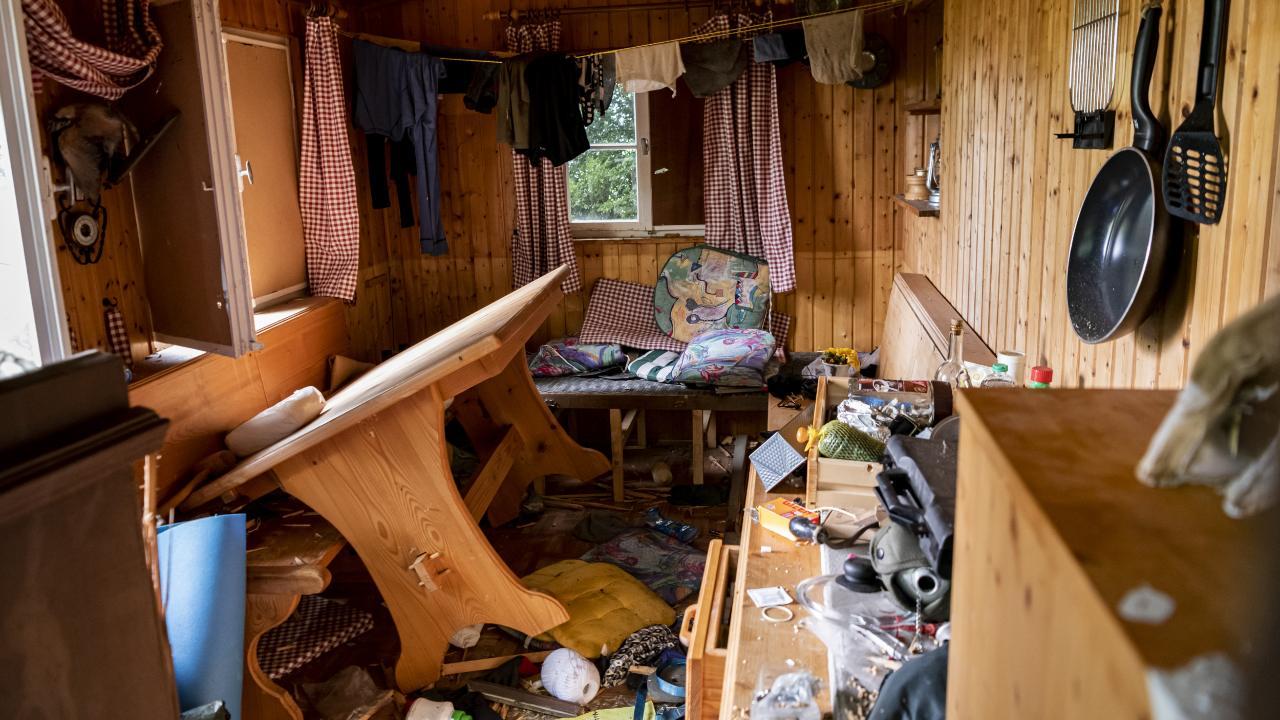 In dieser Hütte hauste der Wald-Rambo vor seiner Flucht