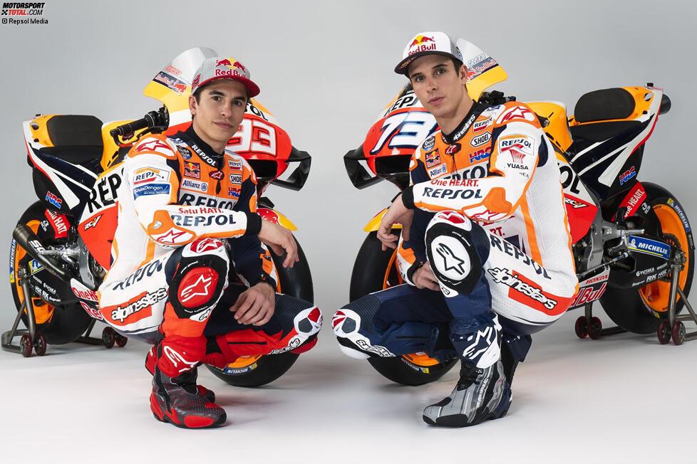 Team: Repsol Honda; Fahrer: Marc Marquez # 93, Alex Marquez # 73