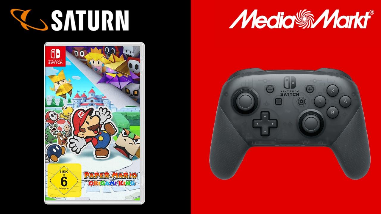 MediaMarkt & Saturn - Paper Mario mit Switch Pro Controller angeboten