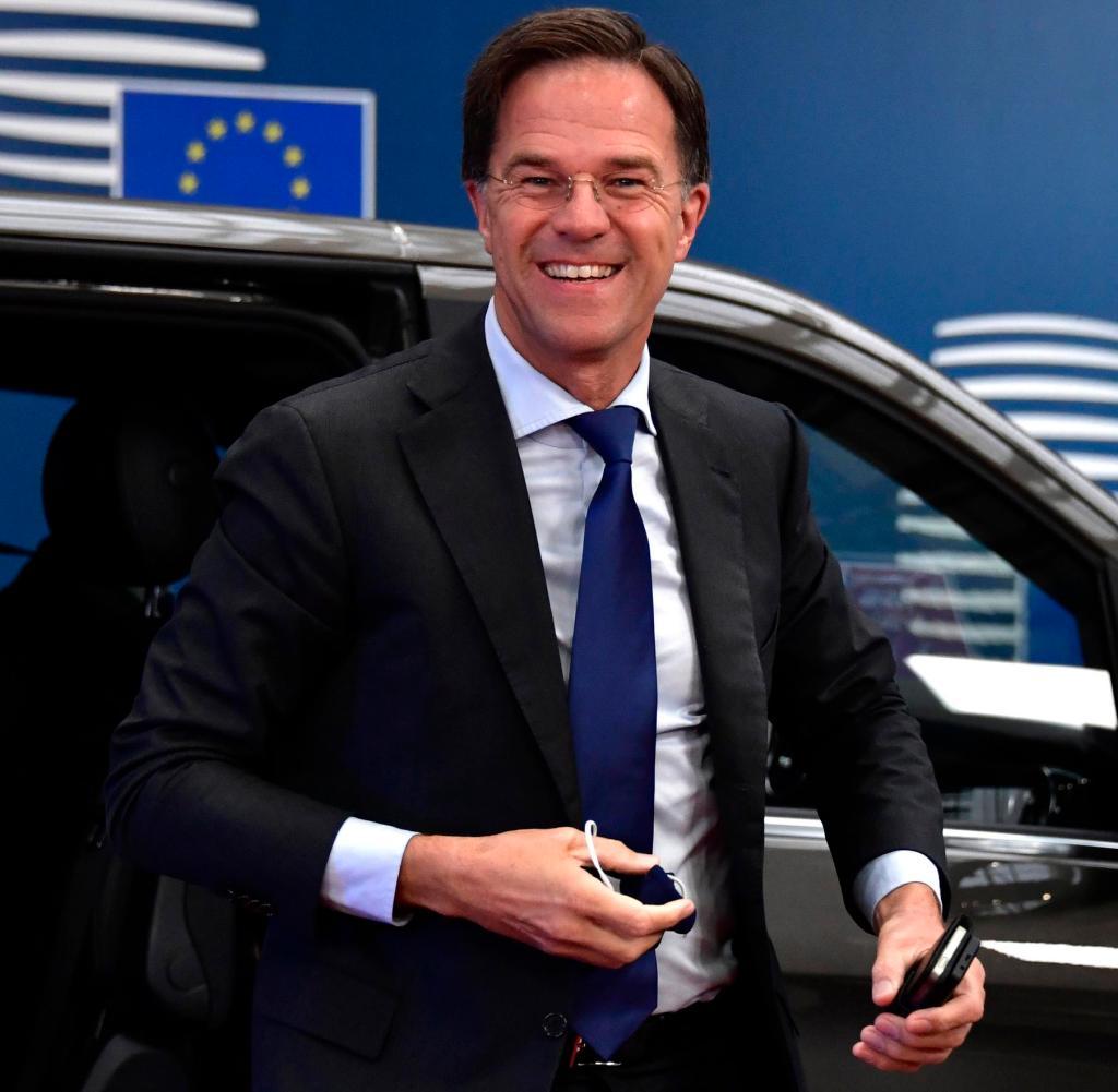 Sicher des Sieges: Mark Rutte bei seiner Ankunft in Brüssel am Freitag