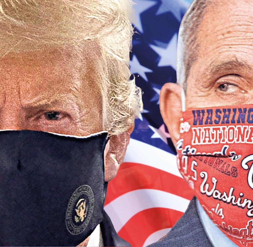 Wird er ein Sündenbock? Donald Trump und sein Chef-Corona-Berater Anthony Fauci (rechts)