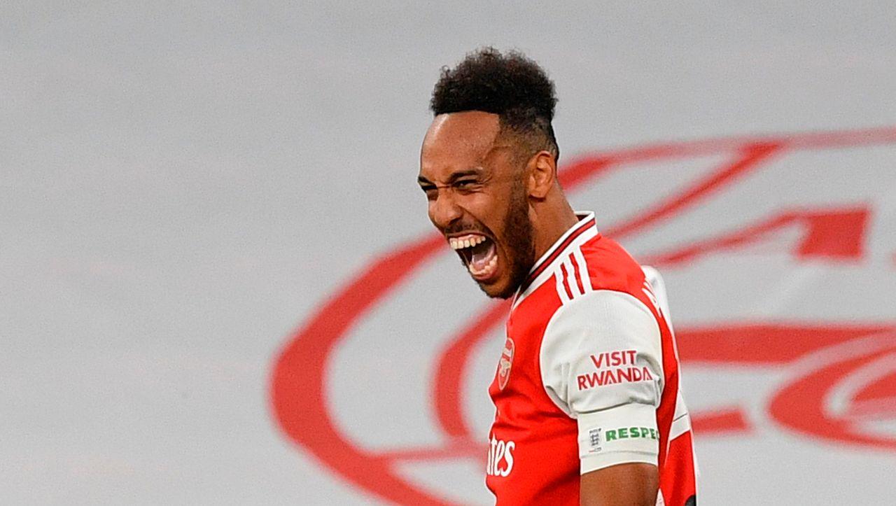 FA Cup: Pierre-Emerick Aubameyang schießt auf Arsenal, um Manchester City zu gewinnen