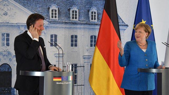 Merkel und Conte wollen eine große Antwort auf die Koronakrise