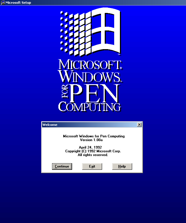 Microsoft Windows für Pen Computing 1.0