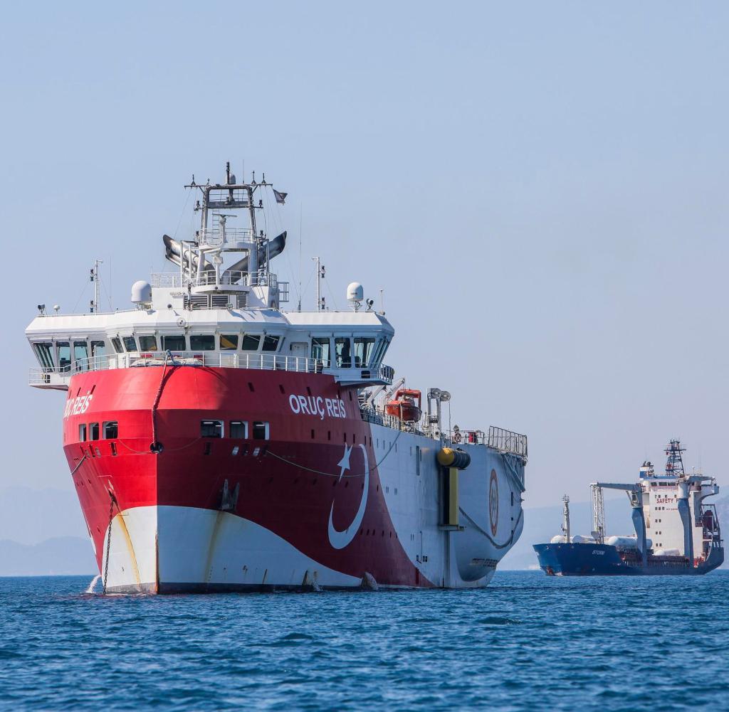 ARCHIV - 24.07.2020, Türkei, Antalya: Das türkische Forschungsschiff