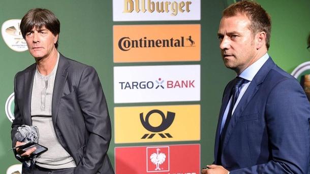 Erfolgreiches Duo: Hansi Flick (r.) Arbeitete jahrelang als Assistent von Nationaltrainer Joachim Löw.  Zusammen wurden sie 2014 Weltmeister.  (Quelle: Bildbilder / Jan Hübner)