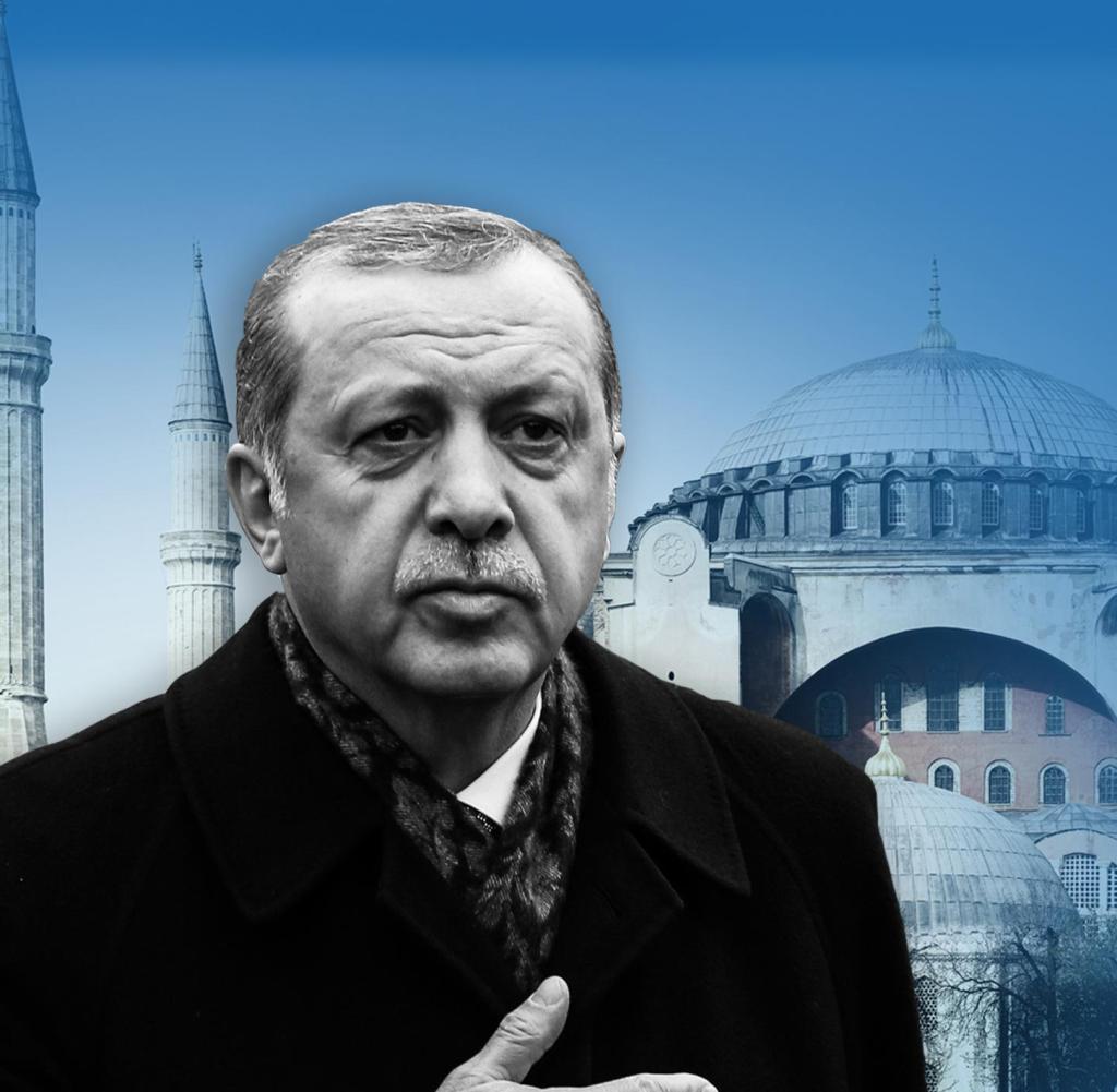 Kehrt die Säkularisierung unter Atatürk um, zum Beispiel im Fall der Hagia Sophia: Präsident Recep Tayyip Erdogan