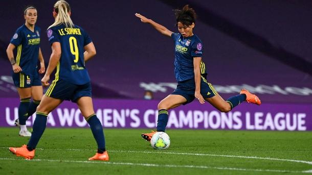Das 0: 2 aus Wolfsburgs Sicht: Lyons Kumagai macht den sechzehnten Platz. (Quelle: Reuters)