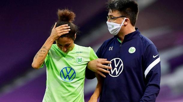 Enttäuscht: Wolfsburgs Doorsun musste verletzt ausgehen. (Quelle: Reuters)