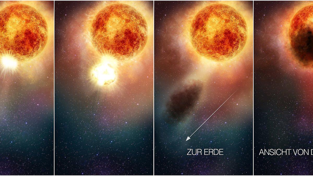 Herold von Supernova ?: Staubverdeckter Riesenstar Betelgeuse