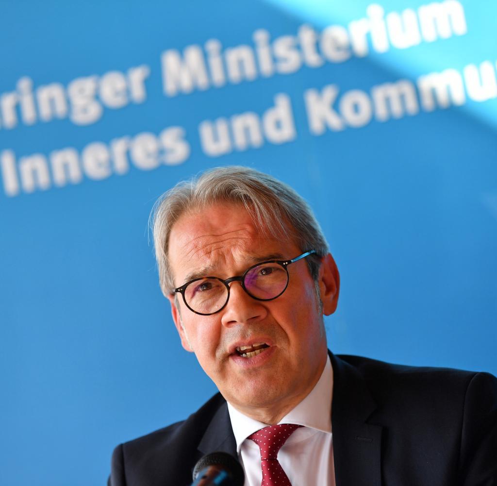 Der Thüringer Innenminister Georg Maier (SPD) leitet derzeit die Konferenz der Innenminister