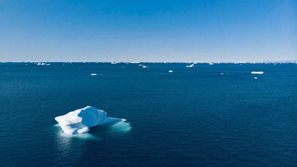 Arktis: Besonders das Eis in der Arktis ist 2020 stark geschrumpft