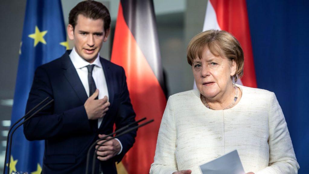 Moria: Kurze Schläge von der Kanzlerin! Warum Merkel den österreichischen Bundeskanzler angreift - Politik im Ausland