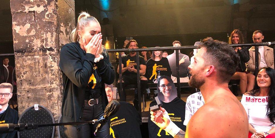 Promi-Boxen: Oliver Sanne schlägt vor, nach dem Sieg die Freundin Jill zu heiraten