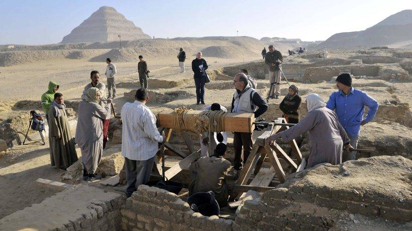Wissenschaft: Archäologen graben in Pyramiden - plötzlich sind sie sehr nah