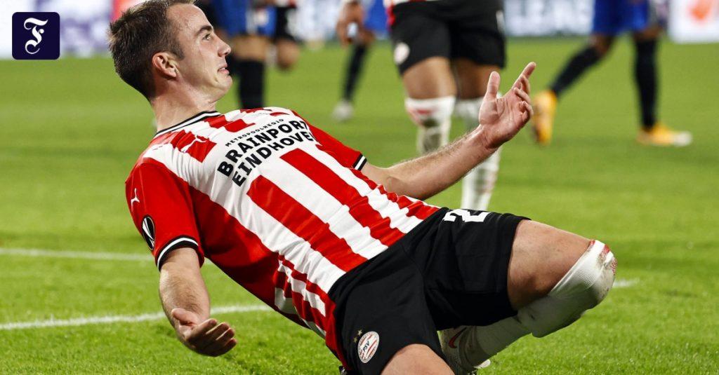 Mario Götze trifft für den PSV Eindhoven in der Europa League