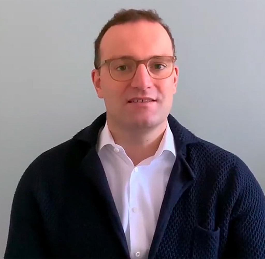 Jens Spahn (CDU) berichtet auf Facebook mit einer Videobotschaft