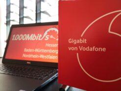 Gigabit-Verbindungen von Vodafone