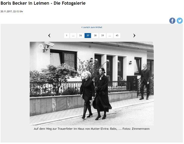 """Die Rhein-Neckar-Zeitung zeigt ein Bild von Boris Becker und schreibt, dass es im Hintergrund darum geht """"Mutter Elviras Haus"""".  (Quelle: Screenshot / RNZ)"""