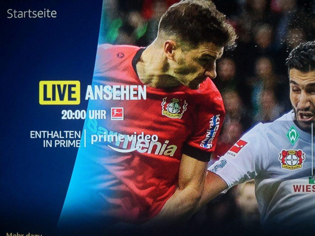 Bundesliga bei Amazon Prime