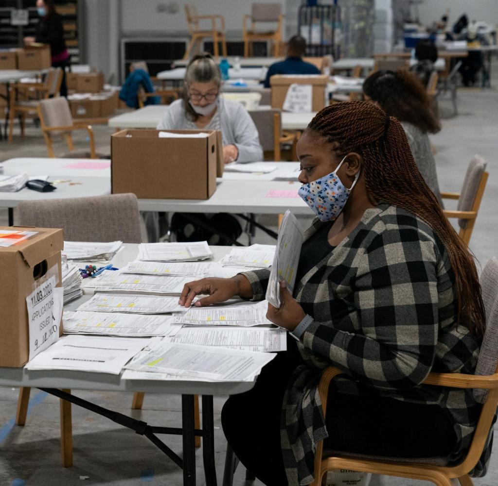 In Georgia, wie hier in Lawrenceville, werden alle Stimmen erneut gezählt - das Ergebnis war so knapp