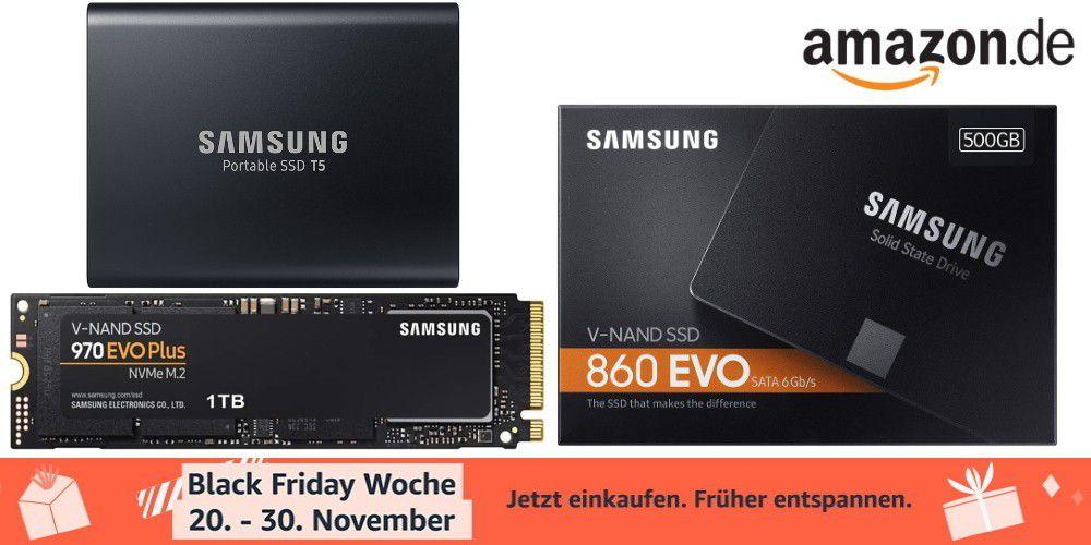 Samsung SSDs am Black Friday zu günstigen Preisen bei Amazon