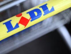 Lidl Einkaufswagen mit Logo