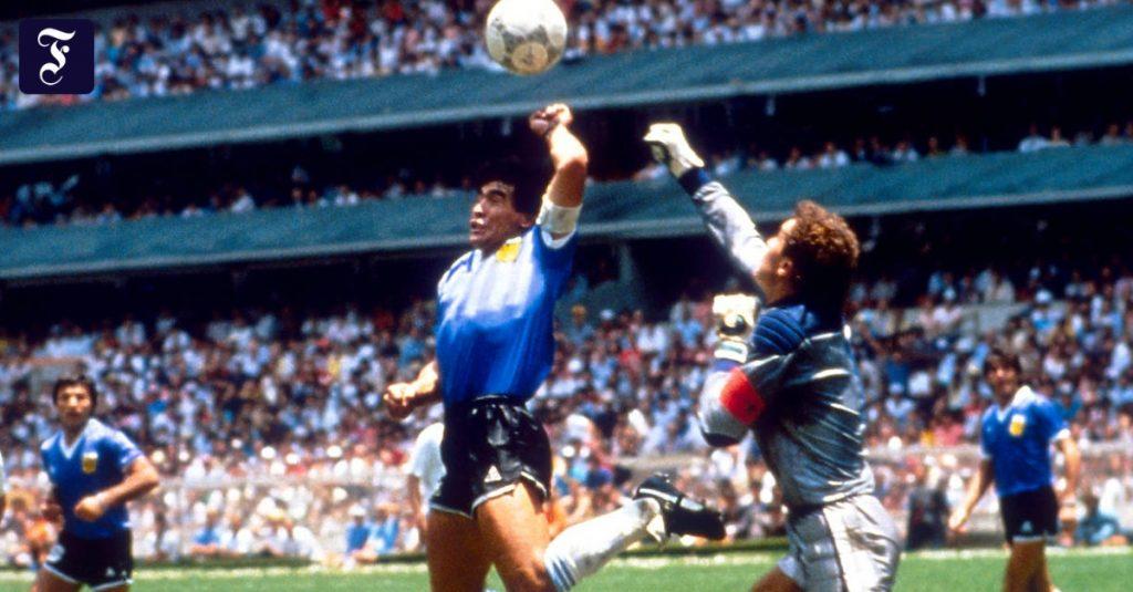 Peter Shilton kritisiert das Maradona-Tor mit der Hand Gottes