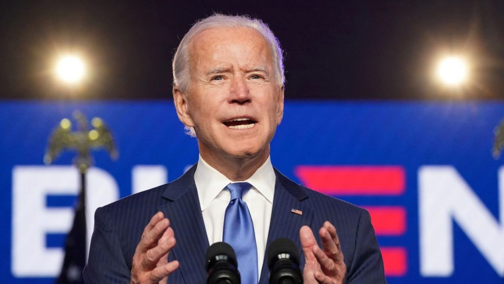 US-Wahl 2020: Joe Biden spricht in einer Rede vor den Menschen