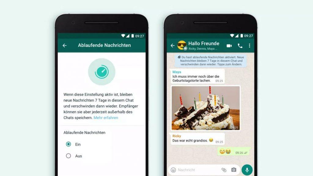 WhatsApp - neue Funktion: Ablaufende Nachrichten bald verfügbar