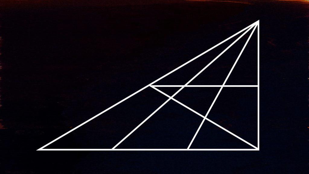 Wie viele Dreiecke kannst du finden?  - Logikrätsel