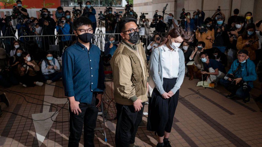 Hongkong: Joshua Wong, Ivan Lam und Agnes Chow verurteilt