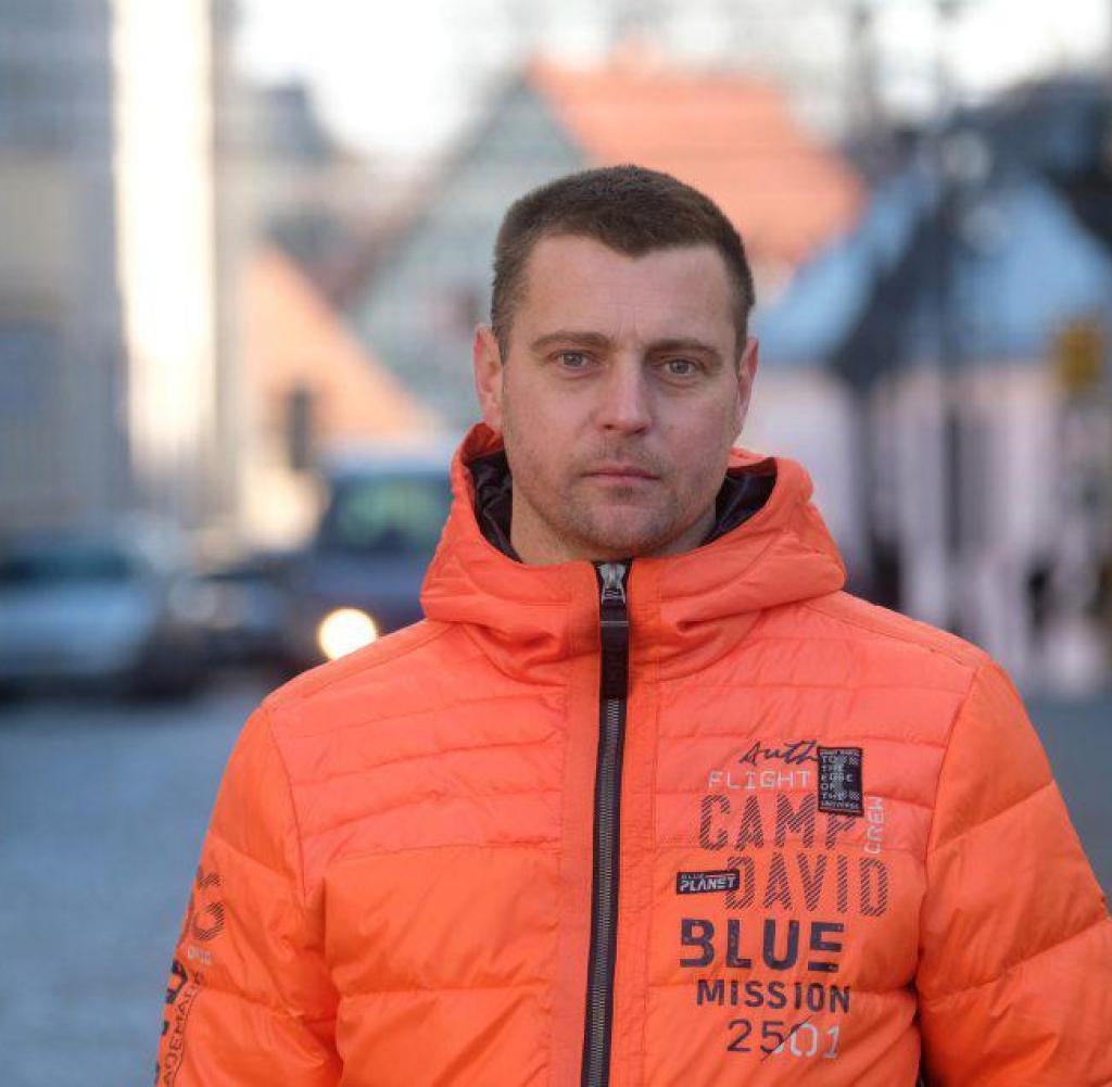 Mathias Gottschalk, Teilnehmer des Spaziergangs gegen die Corona-Politik am 25. November 2020