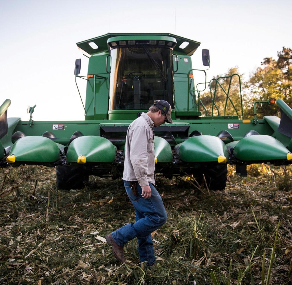 Leute wie er müssen überzeugt sein: Ein Bauer aus dem traditionell republikanischen Nebraska