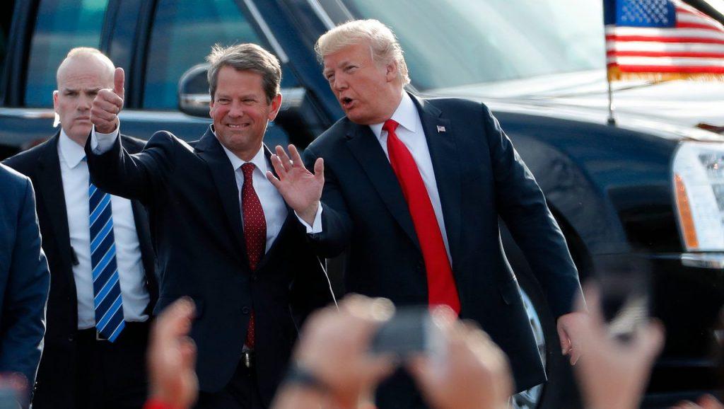 Donald Trump ruft Georgiens Gouverneur Brian Kemp unter Druck