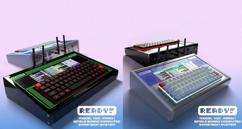 Ready Model 100: Retro-Tastaturhülle mit Touchscreen für Raspberry Pi 4
