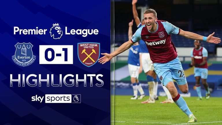 Everton 0-1 West Ham