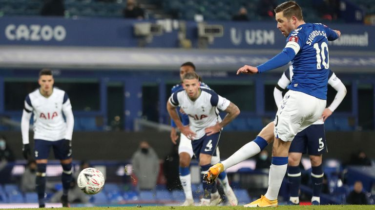 Dominic Calvert-Lewin erzielte Evertons Ausgleich gegen Tottenham