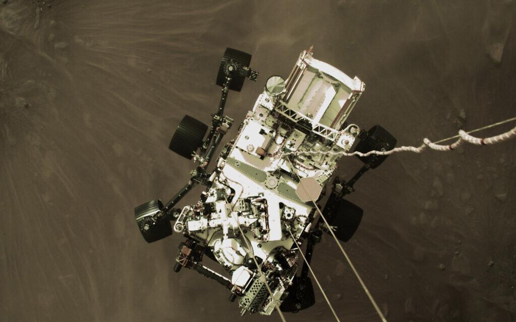 Der Perseverance Rover der NASA liefert spektakuläre neue Bilder des Abstiegs des Mars