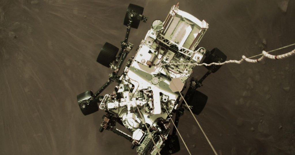 Rover-Ausdauer der NASA: Sehen Sie sich die ersten Bilder des Marsabstiegs am Montag an