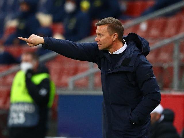 Red Bull Salzburgs Trainer Jesse Marsch reagiert am 18. Februar 2021 in der Europa League