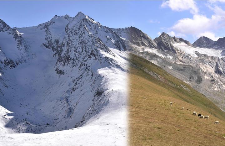 Durch den Klimawandel in den Alpen verursachte Schneeschmelze löst abrupte saisonale Veränderungen aus
