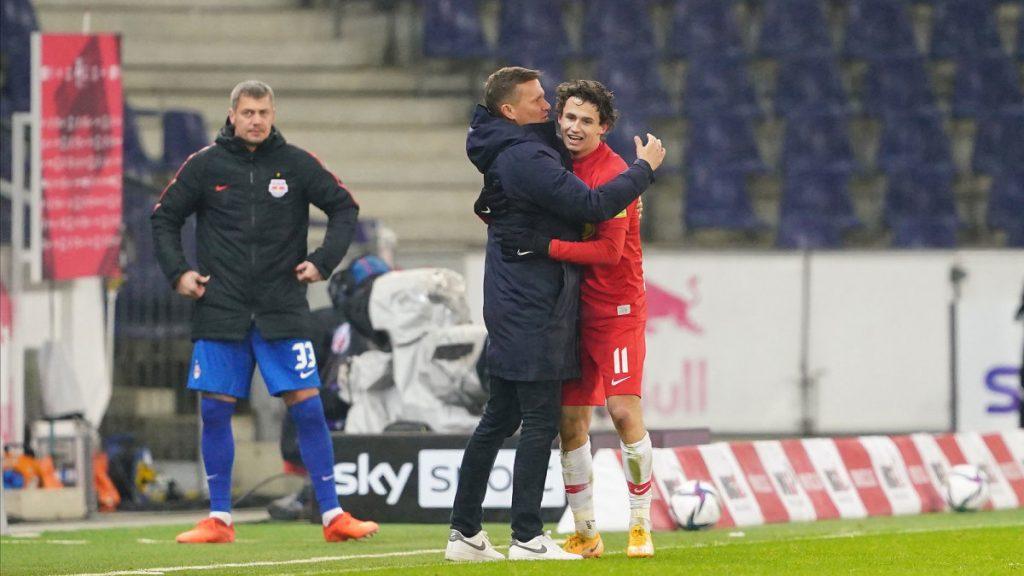 Brenden Aaronsons Torvideo: USA MF erzielt Eröffnungsziel für Salzburg