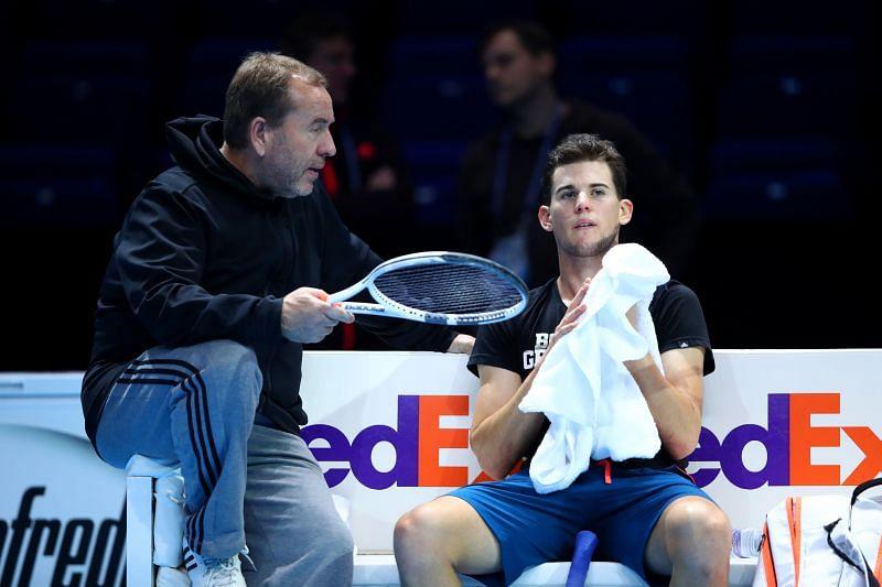 Dominic Thiem mit dem damaligen Trainer Gunter Bresnik beim ATP-Finale 2016