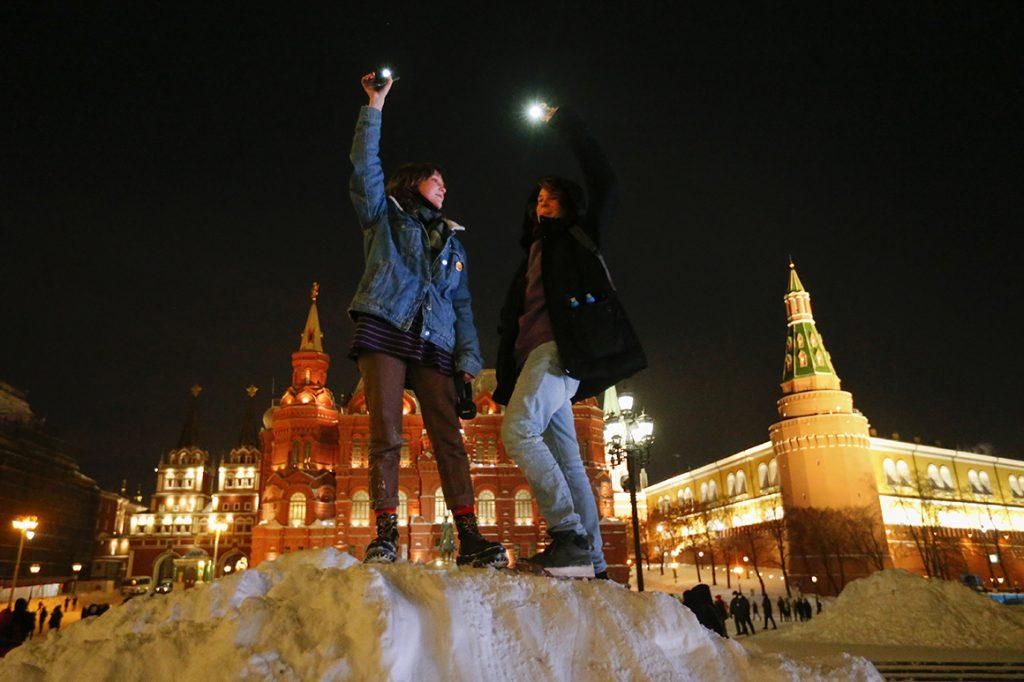 Russland macht sich daran, die Proteste der Pro-Navalny-Taschenlampe auszulöschen