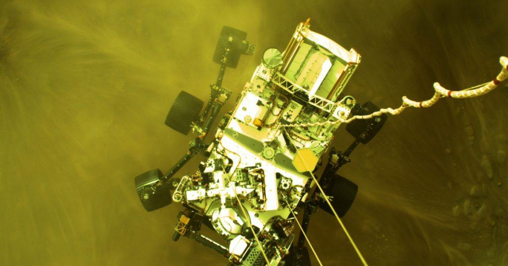 Sehen Sie sich dramatische neue Videos von der Landung des Perseverance-Rovers der NASA auf dem Mars an