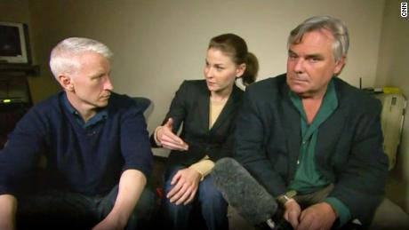 Anderson Cooper, Hala Gorani und Ben Wedeman von CNN veranstalteten während des Arabischen Frühlings 2011 Shows aus Kairo.