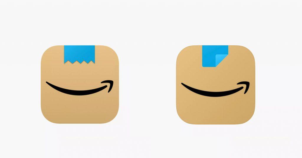 Amazon rasiert den Schnurrbart des App-Symbols, das die Augenbrauen hochgezogen hat