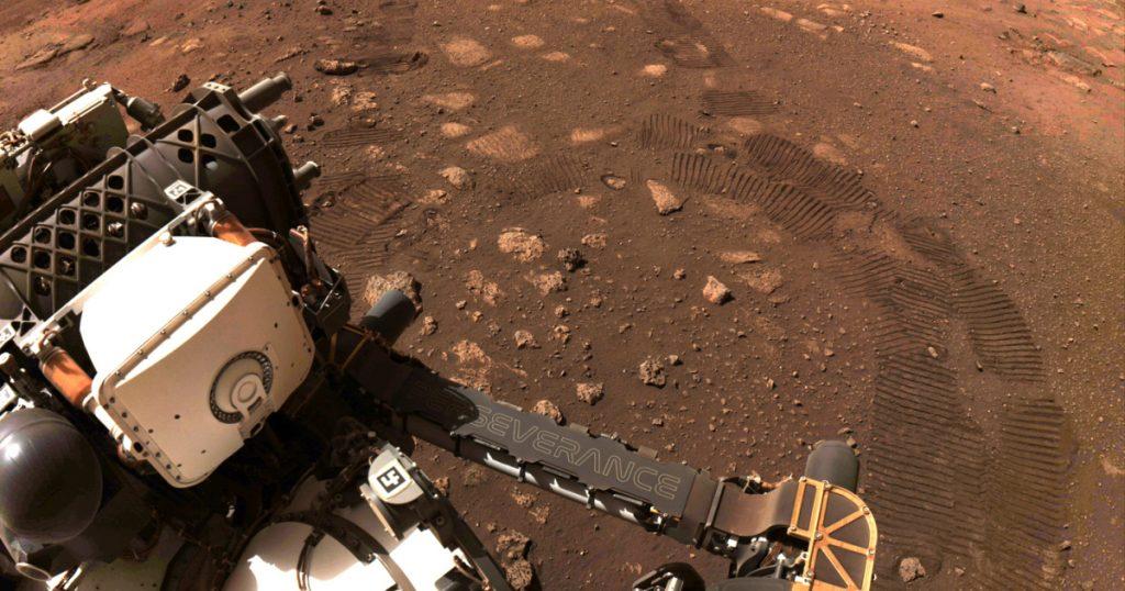 """Der Marsrover fährt 6,5 Meter auf einem ersten """"makellosen"""" Weg    Wissenschafts- und Technologie-Nachrichten"""